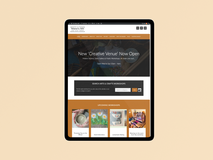 Makers mill web design sample