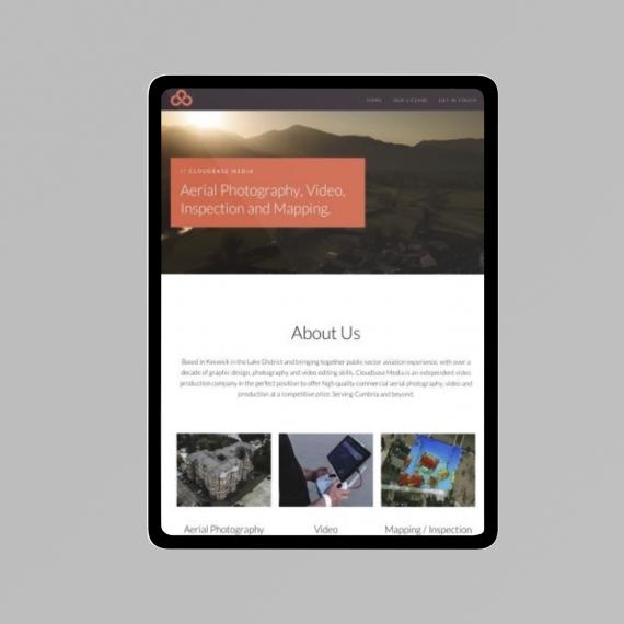 Firebomb media web design sample