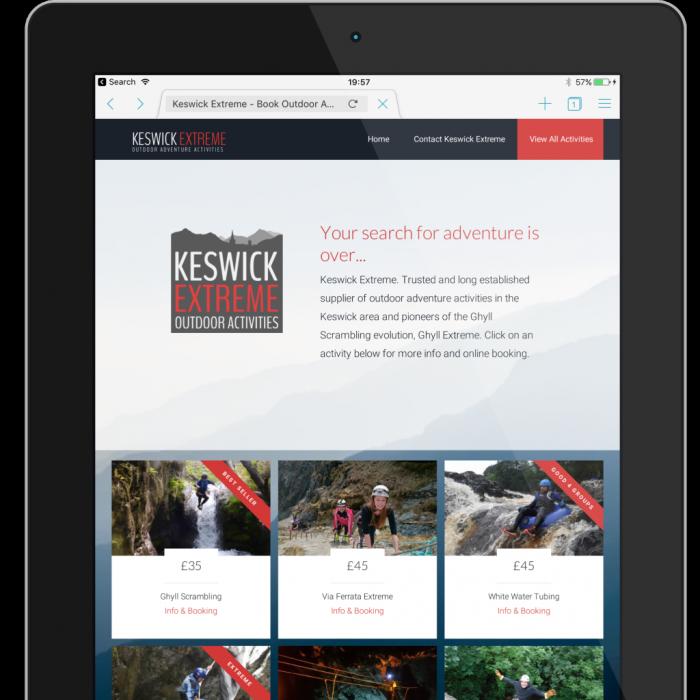 Keswick extreme web design project