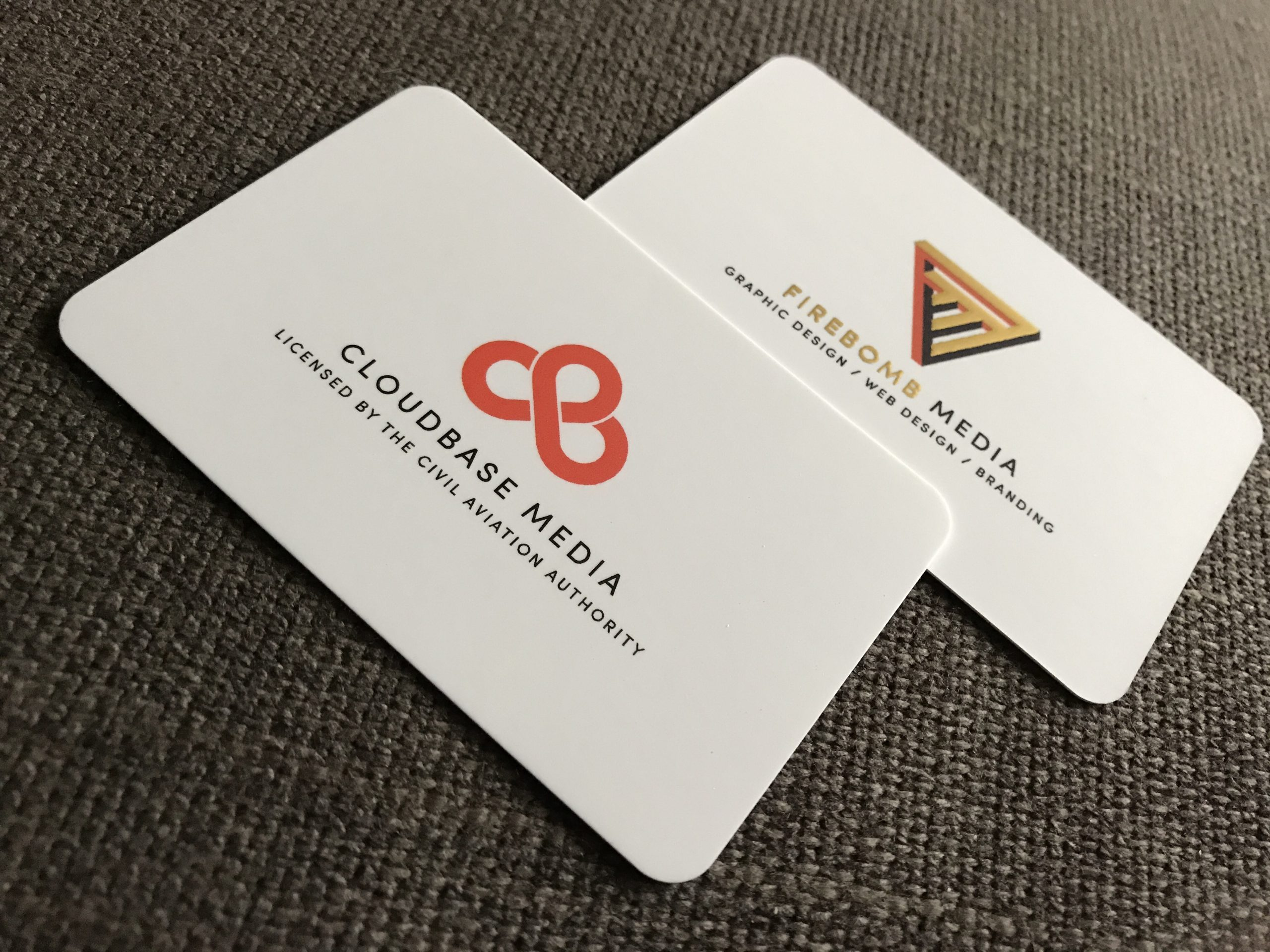 Business card branding graphic design project