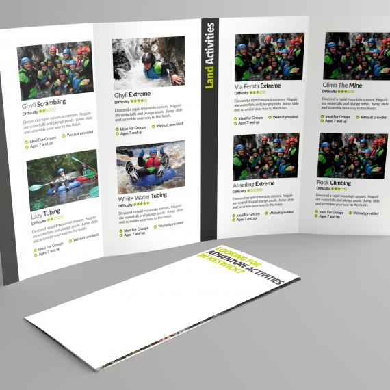 Graphic design leaflet design project