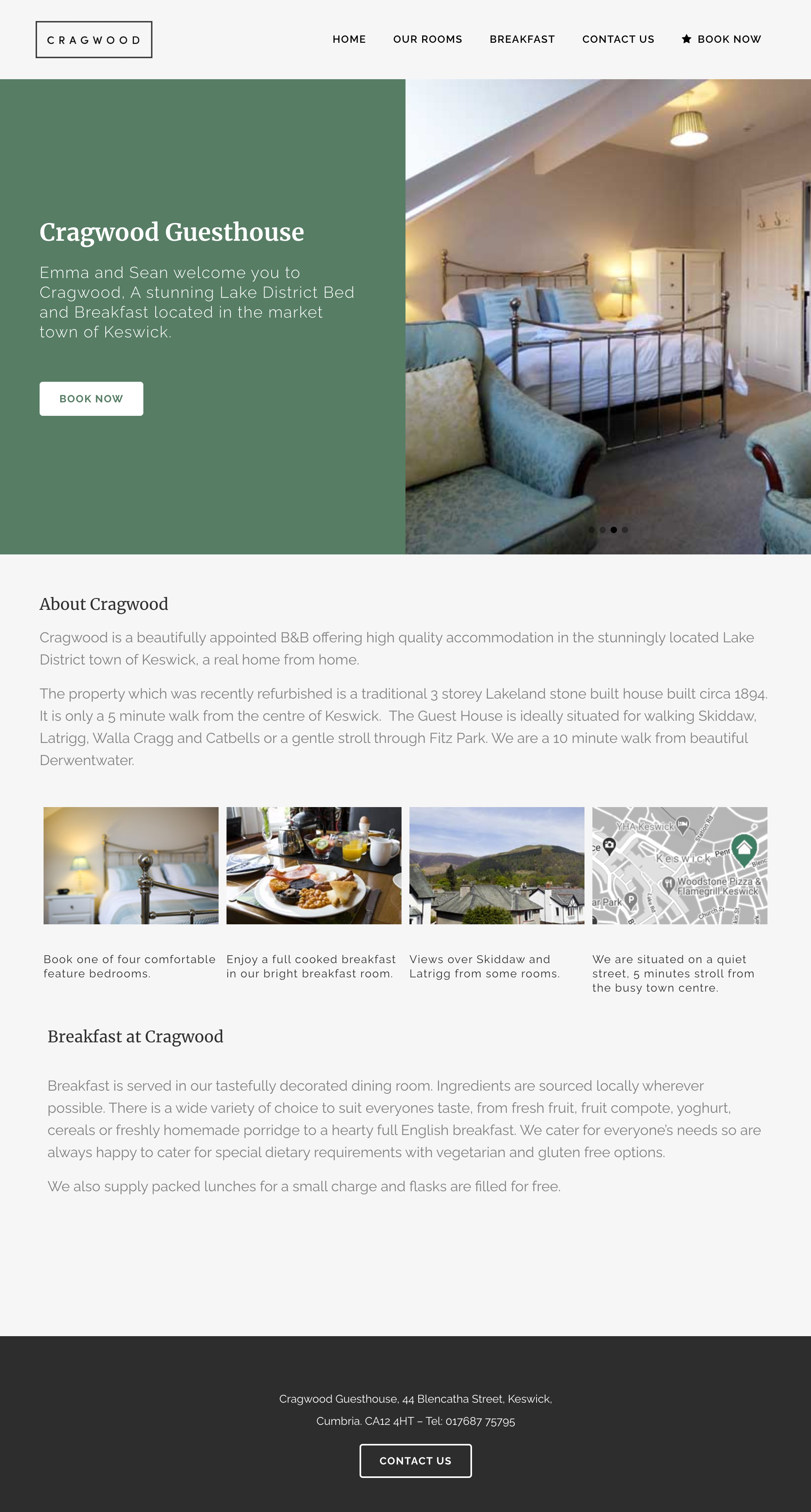 Crakwood Keswick web design