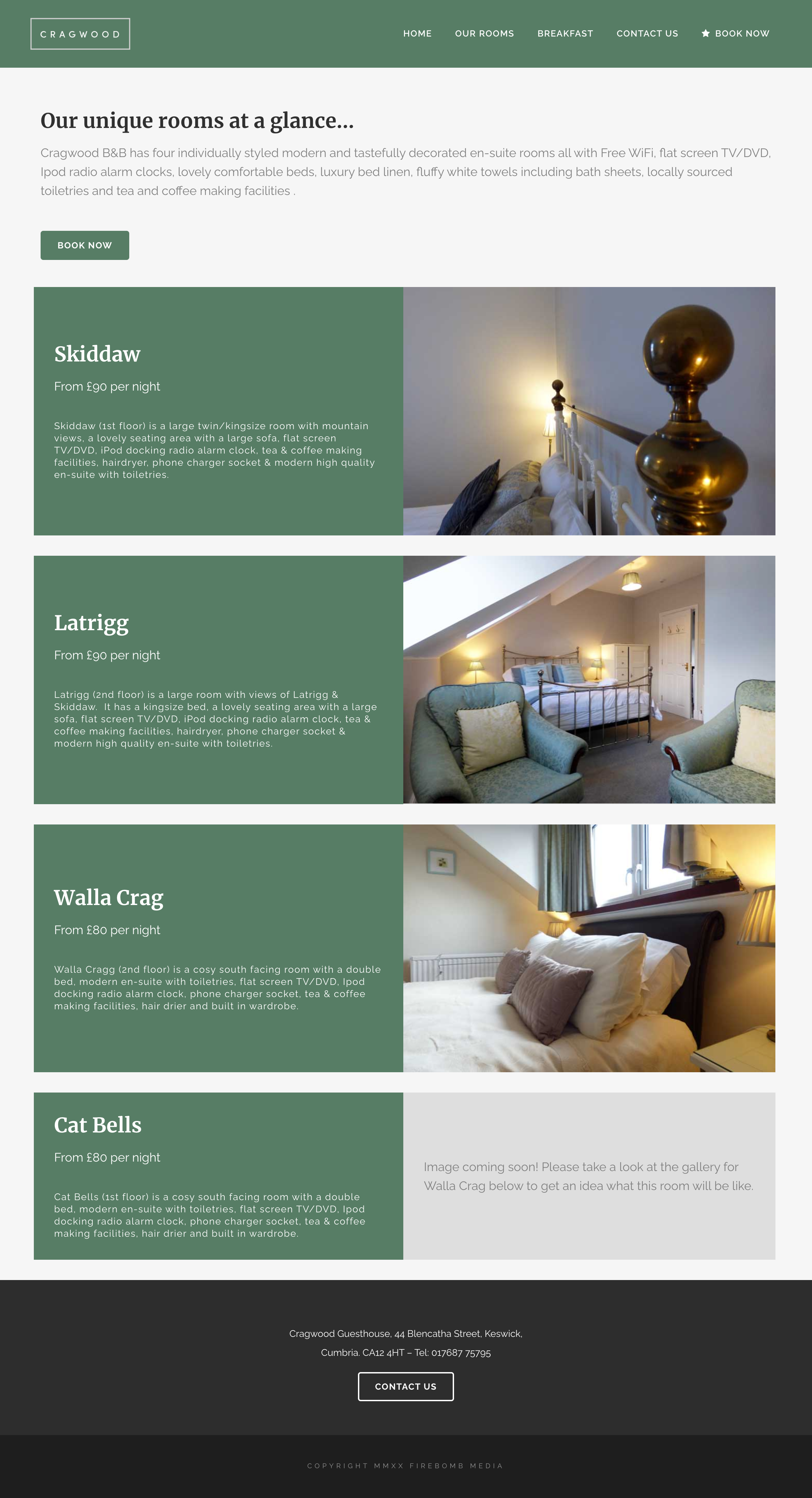 Cragwood keswick web design